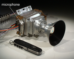 Phoenix Mars Descent Imager with microphone